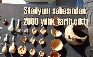 Stadyum inşaatından iki bin yıllık şehir çıktı, kazılar durdu