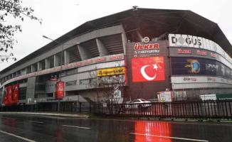 Fenerbahçe stadışehitlerimizin anısına kırmızı beyaza boyandı