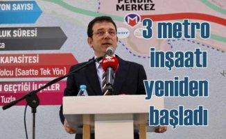 İstanbul'da seçimden önce askıya alınan 3 metro inşaatı yeniden başladı