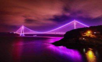 Köprüler bu yıl da epilepsi için mor oldu