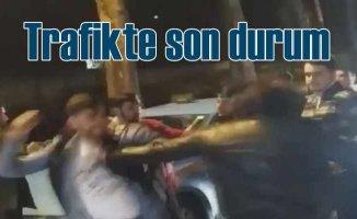 Trafikte tartışma yuruk yumruğa kavgaya dönüştü
