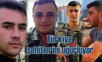 Türkiye şehitlerini uğurluyor | 5 kahraman bugün toprağa veriliyor
