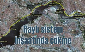 Eminönü Alibeyköy tramvay inşaatı çökmeye rağmen tamamlanıyor