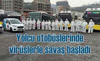 İBB, İETT ve Özel Halk Otobüslerini dezenfekte ediyor