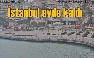 İstanbul #Evdekaldı, sahiller ve yollar boşaldı