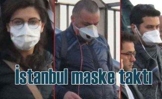 İstanbul maske taktı | Koronavirüse karşı sokakta önlem