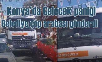 Davutoğlu paniği | Çavuşoğlu programını iptal etti, belediye çöp kamyonlarını gönderdi