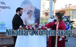 Korona nikahları bahçeye taşıdı