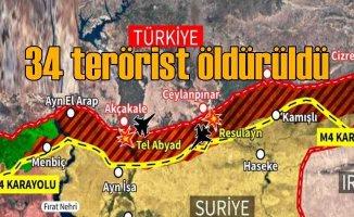 Sızma girişiminde bulunan 34 terörist öldürüldü