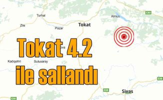 Tokat Almus'ta deprem, Almus 4.2 ile sallandı