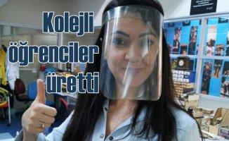 Bahçeşehir Koleji öğrencilerindan sağlık çalışanlarına yüz siperliği