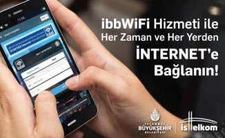 İBB Wifi'ye 3.8 milyon kullanıcı kaydoldu
