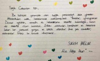 SAGEM'li çocuklardan sağlıkçılara mektup var