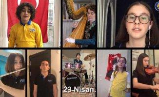 Şirin Pancaroğlu ve Işıklı öğrencilerden 100.yıl marşı