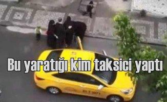 Doğum yapmak üzere olan kadını taksiden attı kaçtı