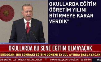 Erdoğan'dan salgınla mücadelede önemli açıklamalar
