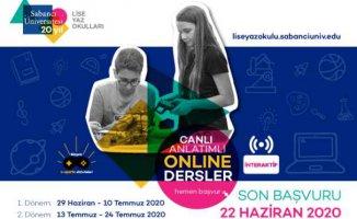 Sabancı Üniversitesi yaz okuları online eğitimle açılacak