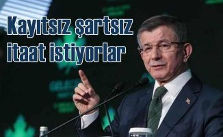 Davutoğlu | Erdoğan Siyasi hırsı ve kini için engel tanımıyor