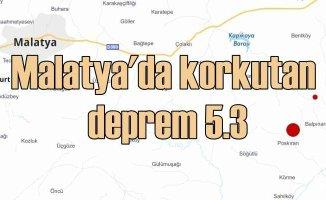 Malatya'da deprem | Pütürge 5.3 ile sallandı