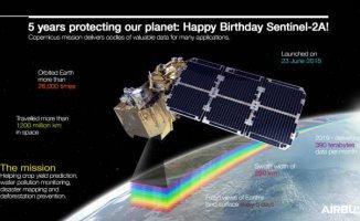 Sentinel-2A, 5 yaşında | Dünya çevresinde 26 bin tur attı