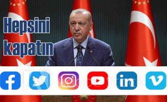 Erdoğan | Sosyal medya mecralarının tamamen kaldırılmasını istiyoruz