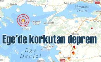 Gökçeada açıklarında deprem oldu 4.3
