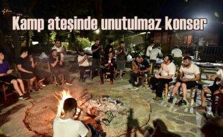 Haluk Levent sözünü unutmadı | Kamp ateşinde konser verdi