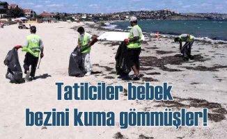 Marmara Ereğlisi'nde tatilcilerden geriye 50 kamyon çöp kaldı