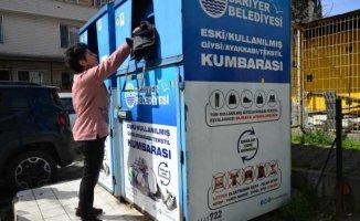 Sarıyer'de 'Çöpe değil kumbaraya' kampanyası