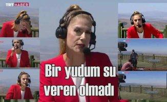 TRT spikeri Nilgün Balkaç'ın zor | Canlı yayında bayıldı
