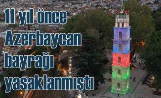 11 yıl önce bayrağı yasaklanmıştı | Bursa'dan Azerbaycan'a bayraklı destek