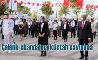 Kutlamalarda çelenksiz gelen AK Partili başkandan çirkin savunma