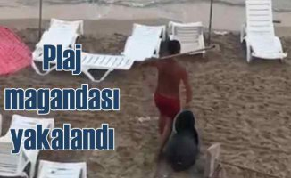 Plaj magandası yakalandı | Çöpleri plajdan denize atmıştı