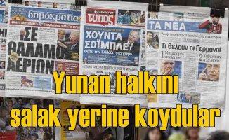 Yunan gazetesi çıldırdı | At yalanı seveyim inananı