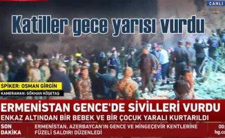 Ermenistan haydutluğu | Gece yarısı Gence'ye katliam saldırısı