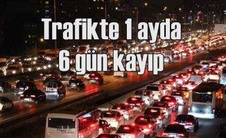 İstanbul yavaşladı | Trafikte zaman kaybı 6 gün