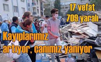 İzmir'de deprem | Can kaybı artıyor |24 vefat, 804 yaralı var