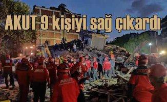 İzmir Depremi | AKUT ekipleri 9 kişiyi sağ çıkardı