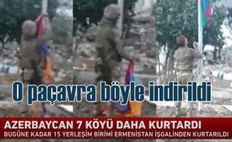 Karabağ'da 15 köy işgalden kurtarıldı | Ermeni paçavrası böyle indirildi
