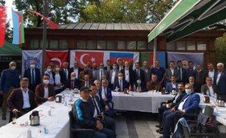 Sürgün'deki Doğu Türkistan'dan Azerbaycan'a destek