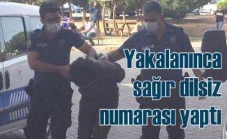 Tacizci sapık, polisi görünce sağır dilsiz numarası yaptı
