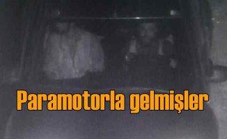 Teröristler Suriye'den paramotor ile gelmiş