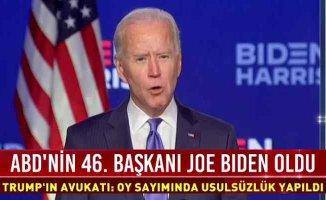 ABD başkanlık koltuğu Biden'ın | Zaferini açıkladı
