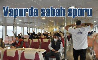 İstanbul vapurlarında spor başladı