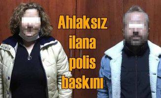 Sosyal medyada ahlaksız ilana polis baskını