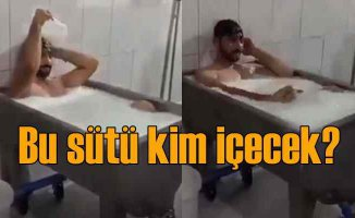 Süt banyosu skandalı | Fenomen olacaktı, rezil oldu