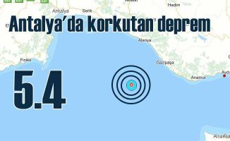 Antalya'da deprem | Antalya açıkları 5.4 ile sallandı