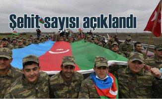 Azerbaycan Karabağ Şehitlerini açıkladı