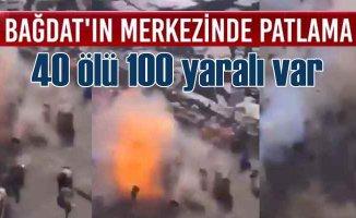 Bağdat'ta teröristler yoksullar pazarını vurdu, 40 ölü var