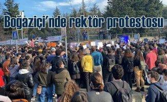 Boğaziçi Üniversitesi'nde yeni rektöre protesto